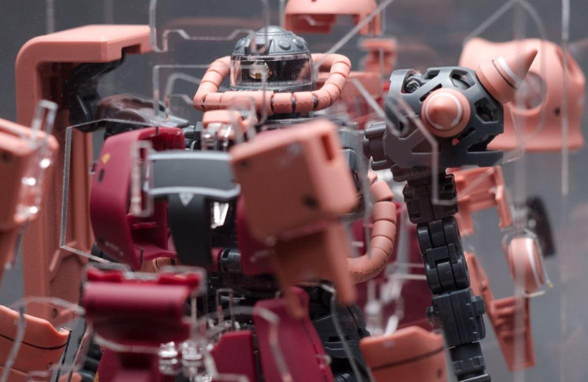 Gundam.my: [Inforce Studio] MG Char Zaku II ver. 2.0 Multi Level Clear Acrylic Case opens for PO😚