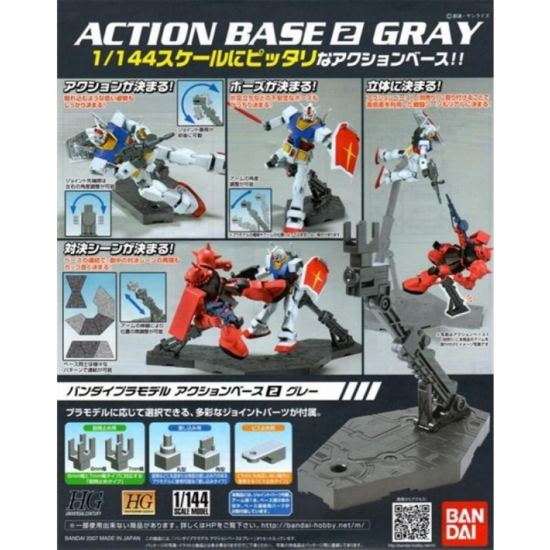 Model Base Miniatures Bandai Véhicules Kit Action 2 Gray n0Nwm8v