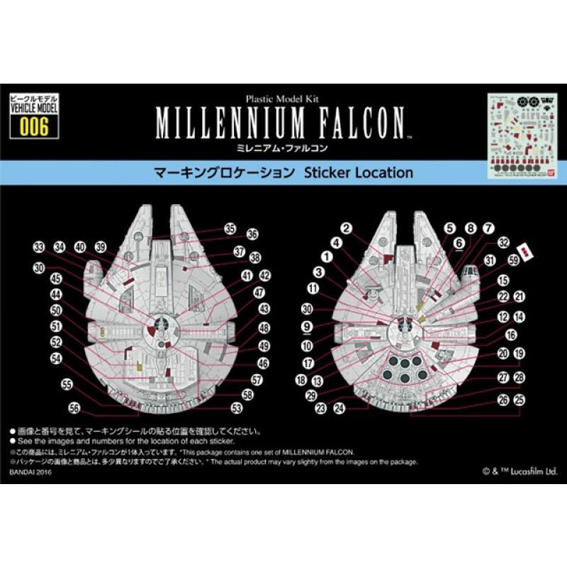 Vehicle model 015 Millennium Falcon plastic model kit 2019