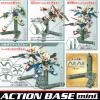 BANDAI Model Kit ACTION BASE mini for SD, HG, 1/144 - (2 Units) (GREY)
