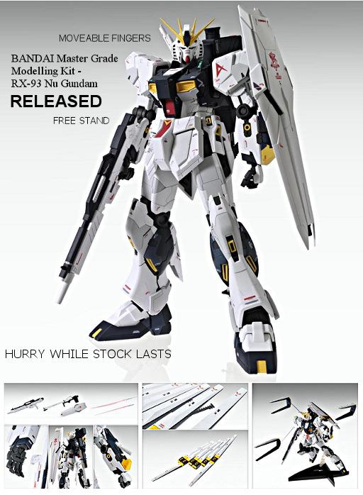 BANDAI Nu Gundam Ver.Ka (MG) released !!