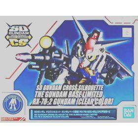 The Gundam Base Limited SD Gundam Cross Silhouette RX-78-2 Gundam (Clear Color)
