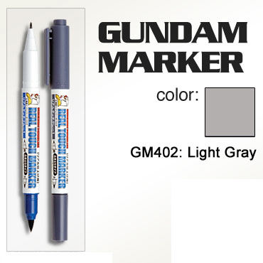 Gundam Marker - 2 Ink Head Real Touch GM402 (Light Gray)