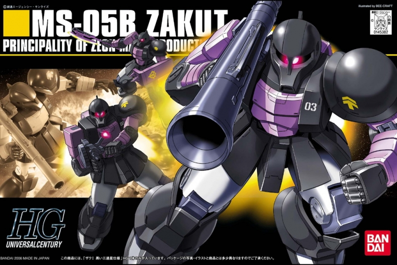 [068] HG 1/144 MS-05 Zaku I The Black Tri-Star