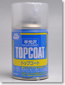[B502] Mr Hobby Top Coat Semi Gloss 86ml Spray
