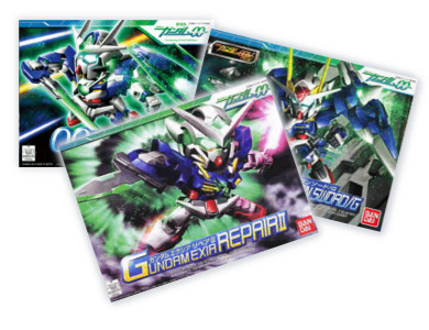 3 in 1 00 SD 00 Gundam promotion, Exia SD, 00 QAN[T], 7 SWORD