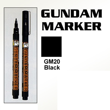Gundam Marker Pen - Water Based GM20 (Black)
