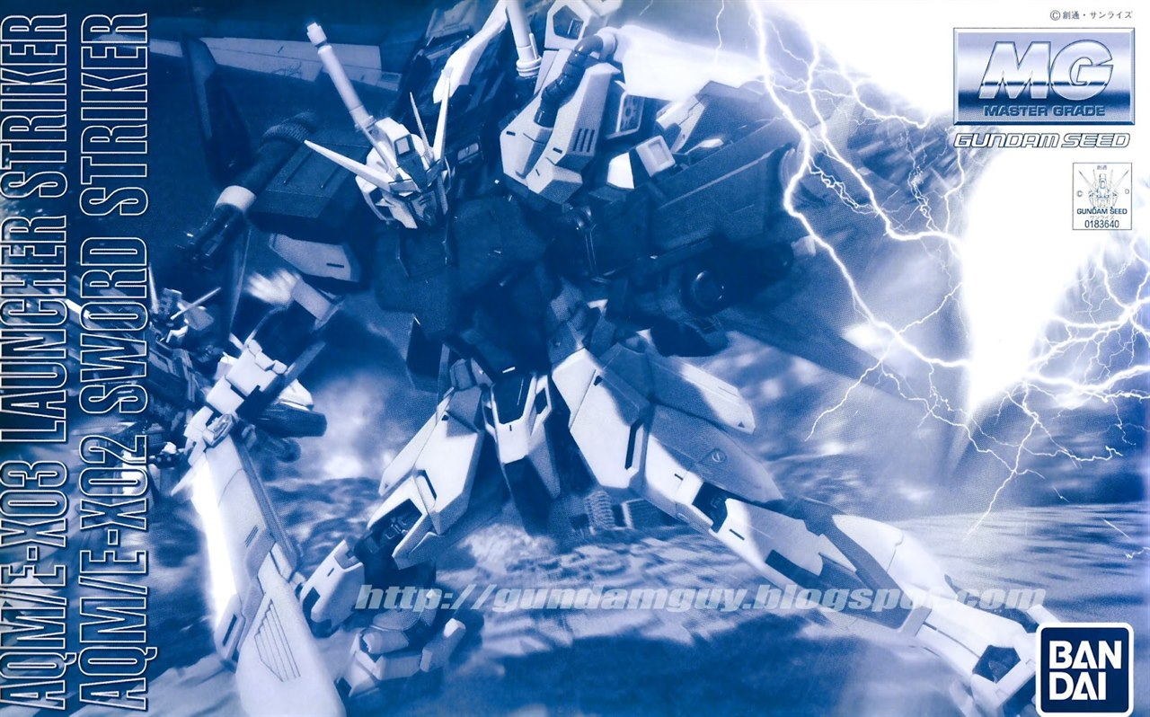 MG 1/100 AQM/E-X03 Launcher Striker & AQM/E-X02 Sword Striker Pack