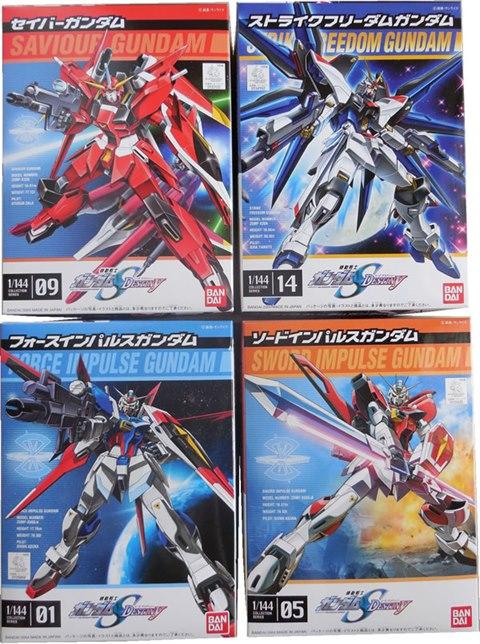 [4 in 1] FG 1/144 Sword Impulse, Saviour, Force Impulse, Strike Freedom Gundam