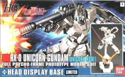 HGUC 1/144 RX-0 Unicorn Gundam [Unicorn Mode] + Head Display Base