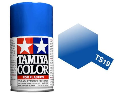 Tamiya Metallic Blue Paint Spray TS-19