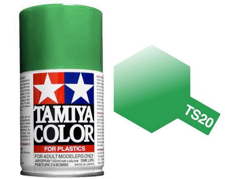 Tamiya Metallic Green Paint Spray TS-20