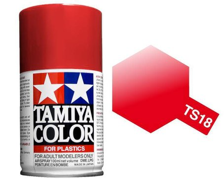 Tamiya Metallic Red Paint Spray TS-18