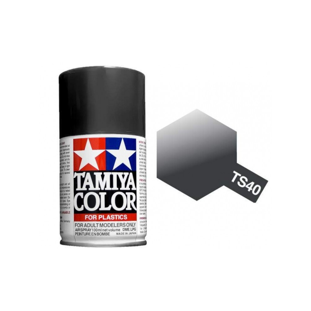 Tamiya Metallic Black Paint Spray TS-40