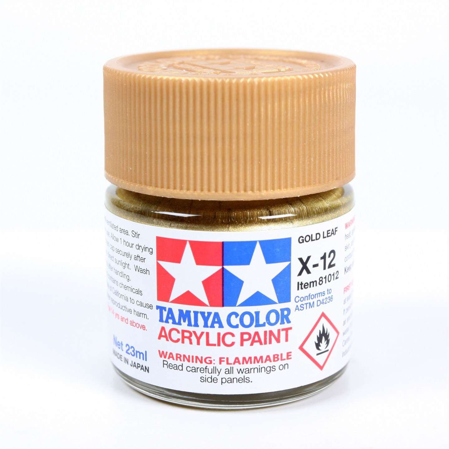 Tamiya Color Acrylic Paint X-12 (Gold Leaf) (23ml)