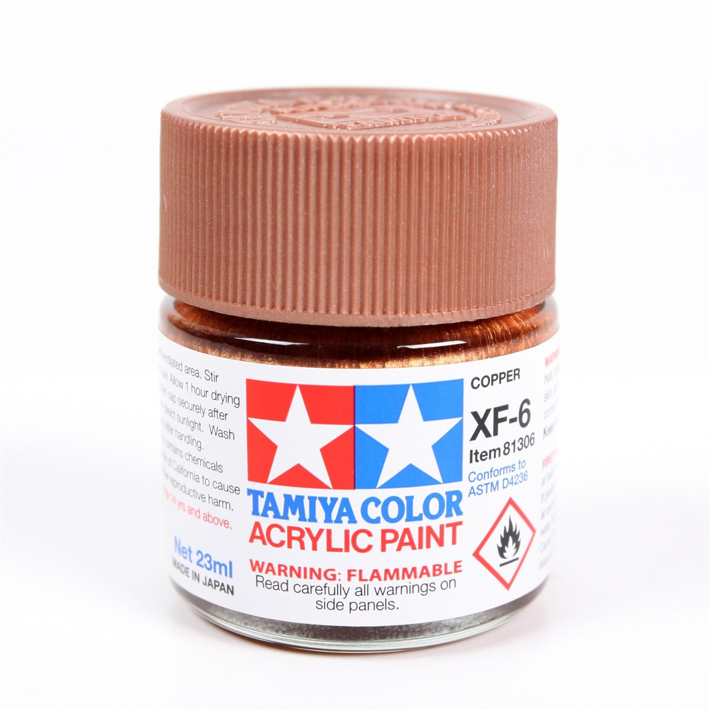 Tamiya Color Acrylic Paint XF-06 (Copper) (23ml)