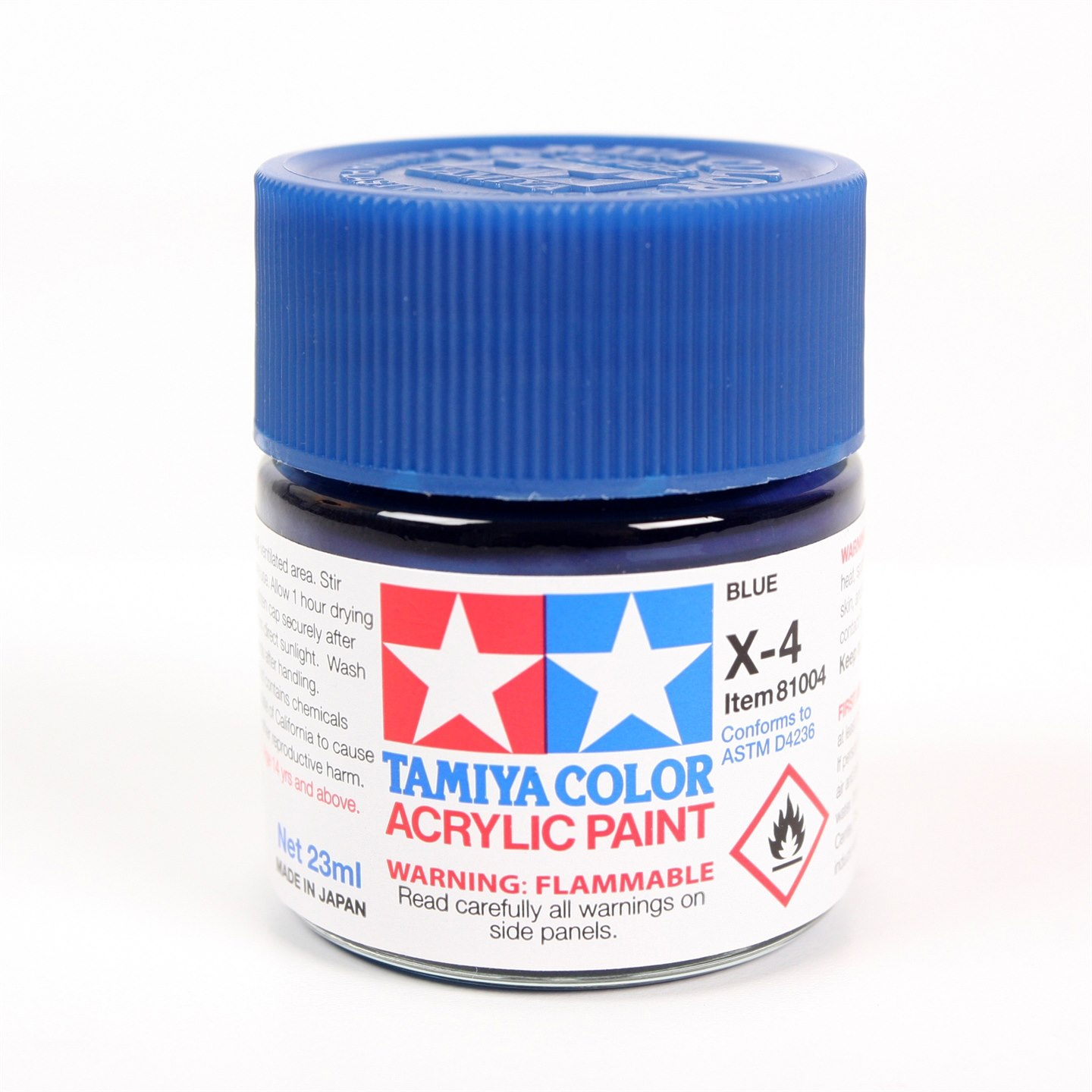 Tamiya Color Acrylic Paint X-04 (Blue) (23ml)