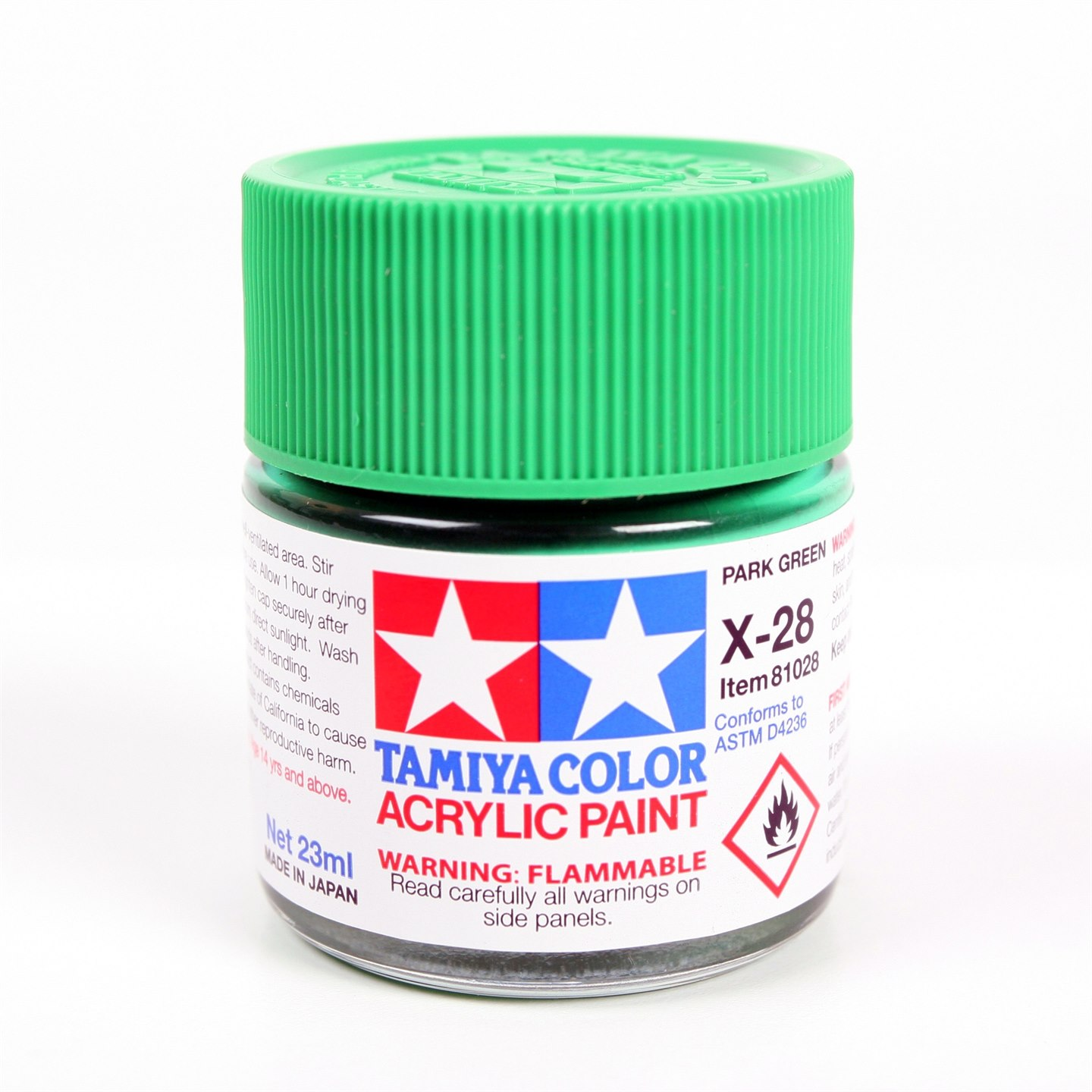 Tamiya Color Acrylic Paint X-28 (Park Green) (23ml)