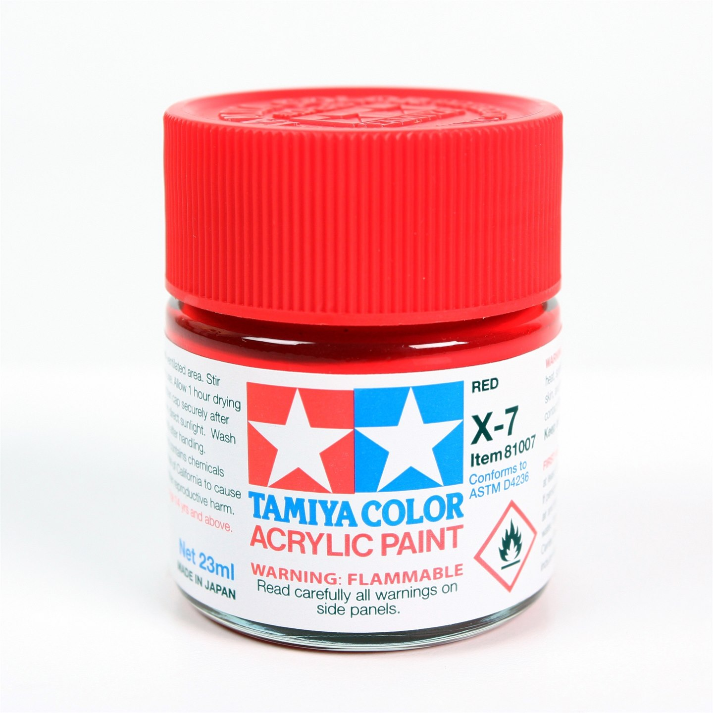 Tamiya Color Acrylic Paint X-07 (Red) (23ml)