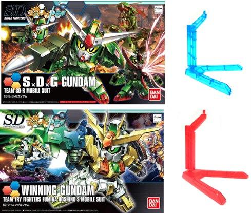 SDBF Twin Set 01 - [023] Winning Gundam & [032] SxDxG Gundam (SDBF) - free 2 BB Basic Action base
