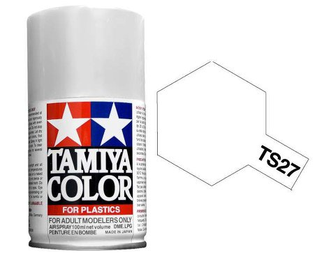 Tamiya Matt White Paint Spray TS-27