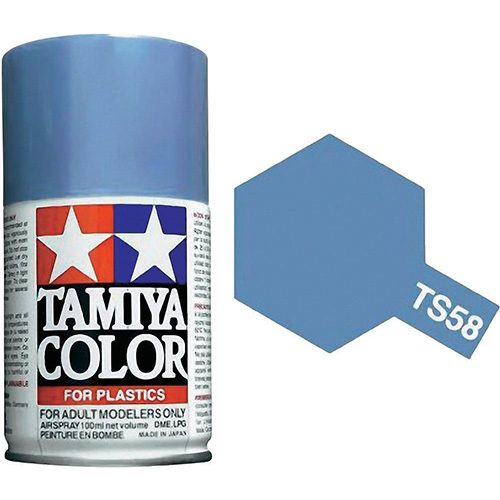 Tamiya Pearl Light Blue Paint Spray TS-58