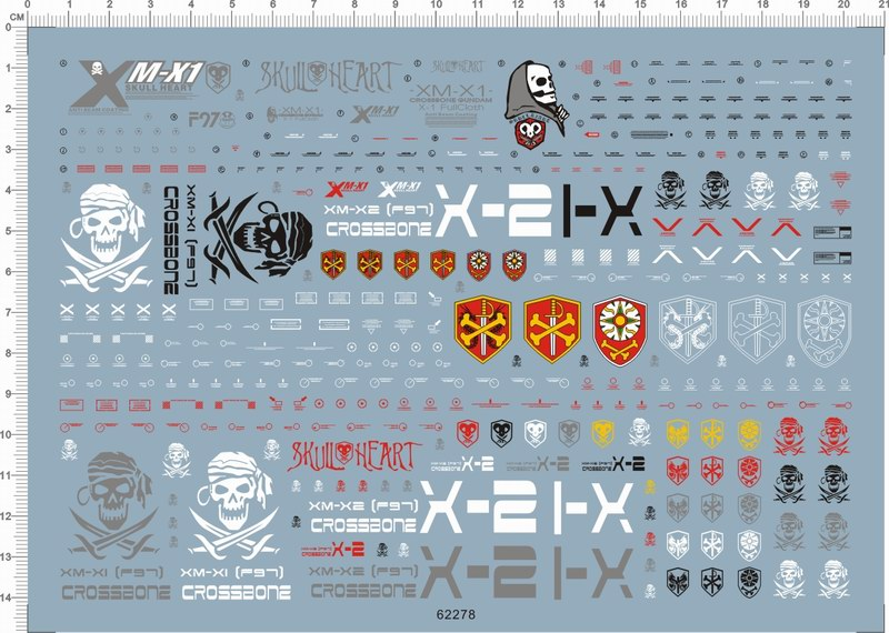 [Water Decal] MG Gundam XM-X1 Crossbone X-1