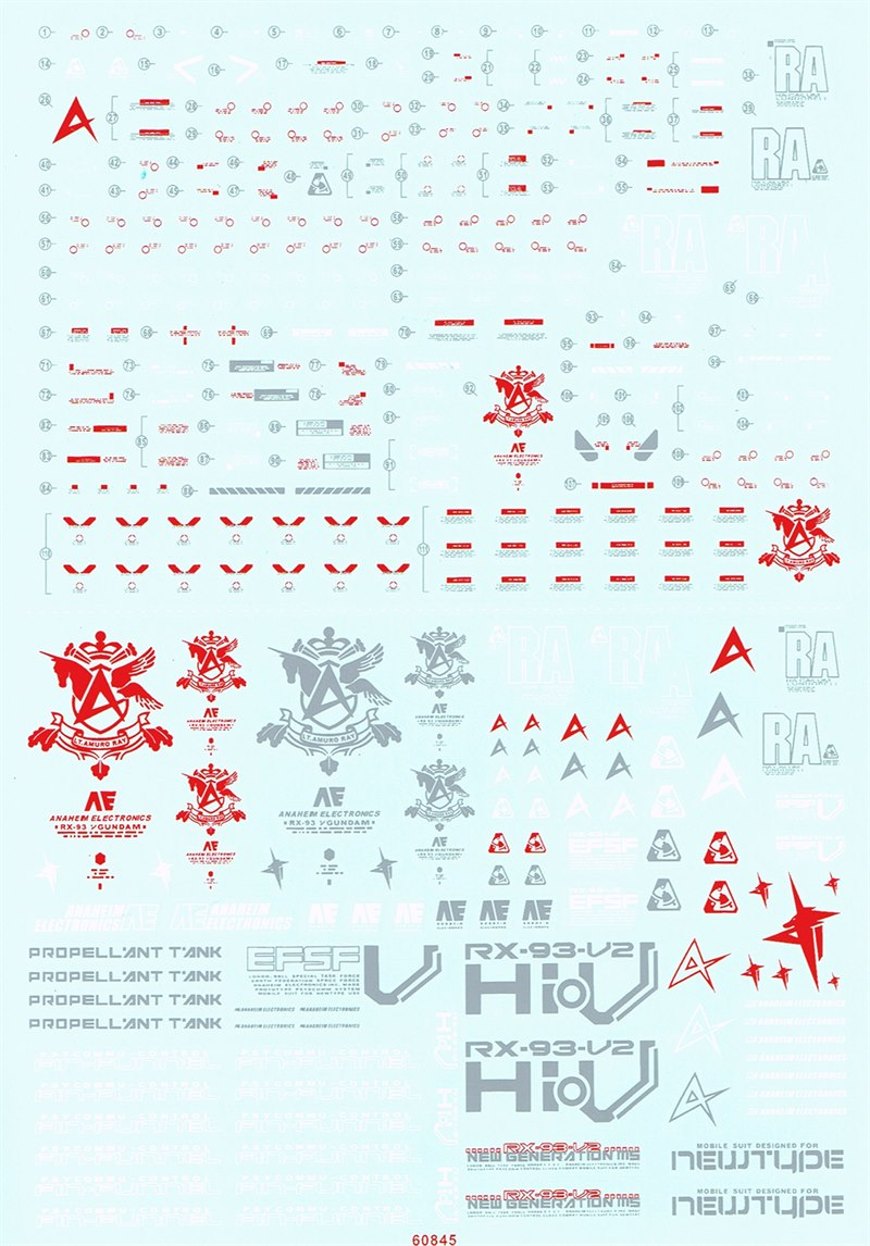 MG HI-V Gundam Water decal