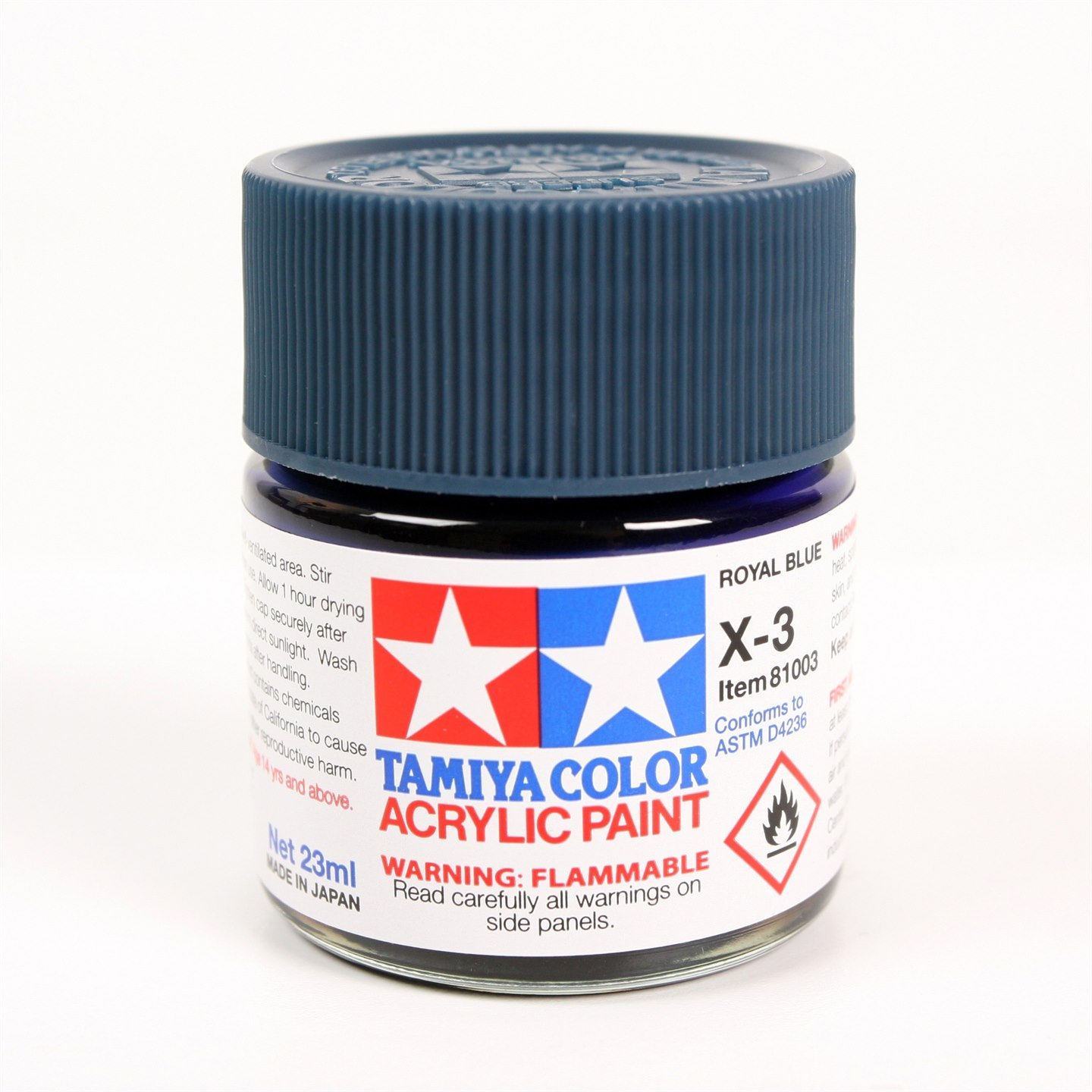Tamiya Color Acrylic Paint X-03 (Royal Blue) (23ml)