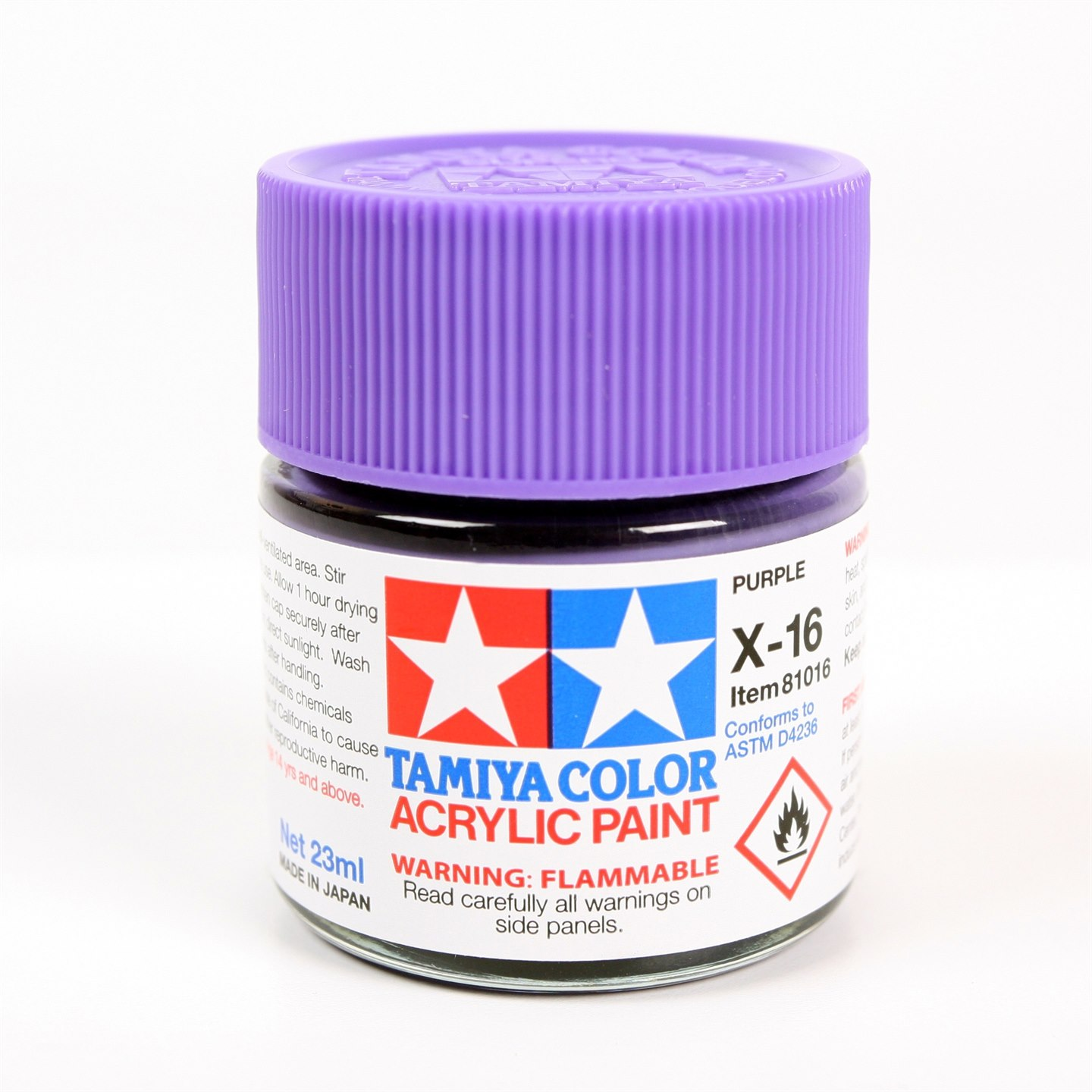 Tamiya Color Acrylic Paint X-16 (Purple) (23ml)