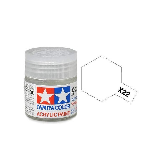 Tamiya Color Acrylic Paint X-22 (Clear) (23ml)