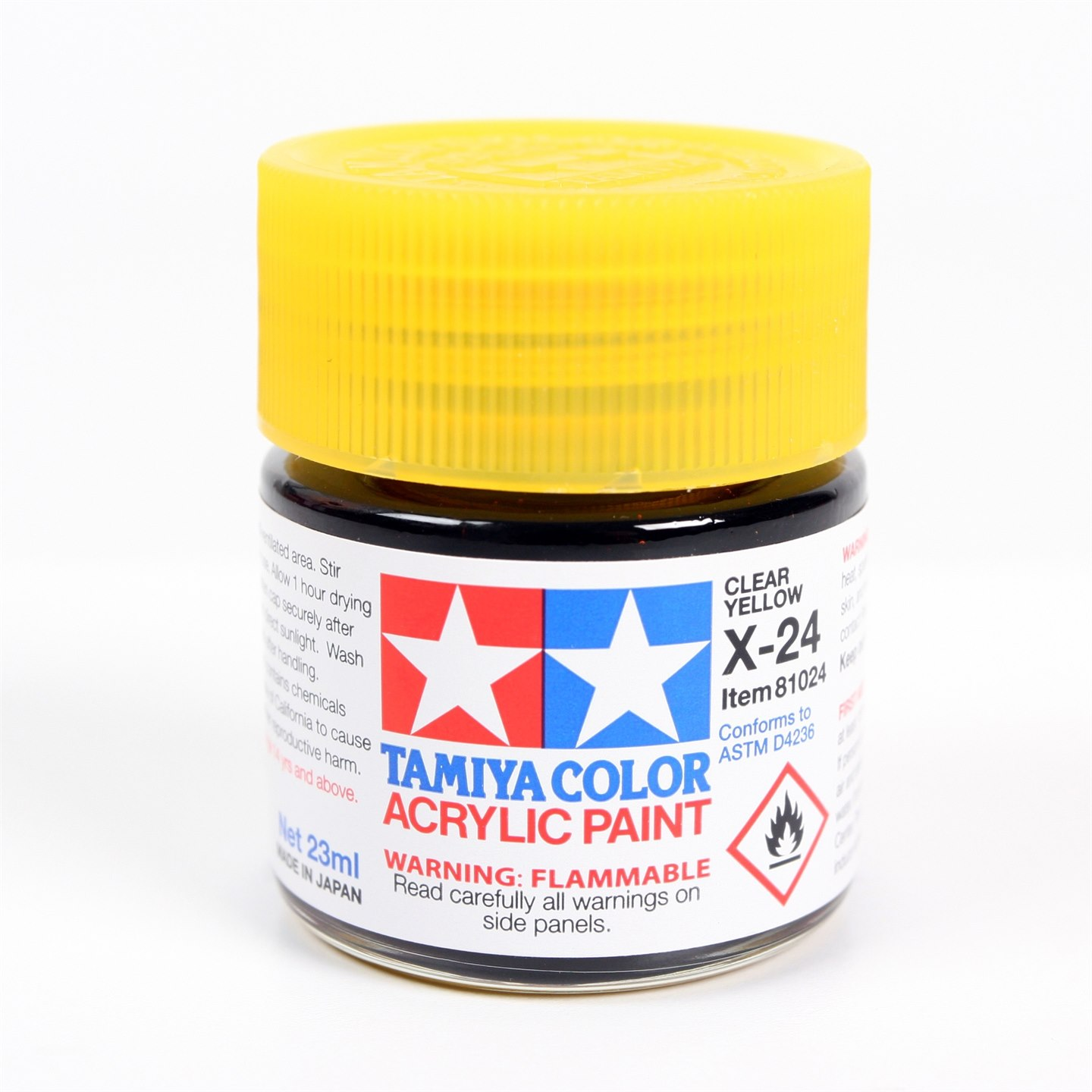 Tamiya Color Acrylic Paint X-24 (Clear Yellow) (23ml)