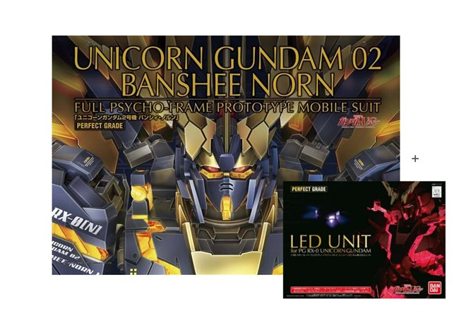 PG 1/60 RX-0 [N] Unicorn Gundam 02 Banshee Norn (With LED)