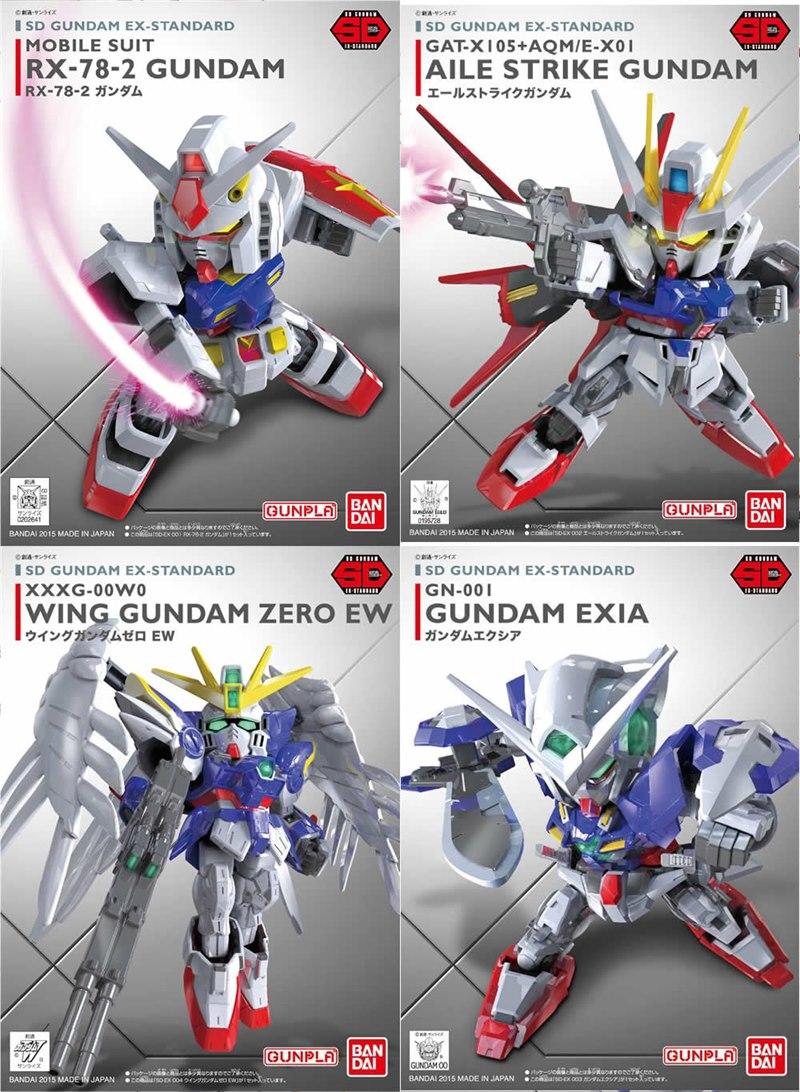[4 in 1] SD Ex-Standard - RX-78-2, Aile Strike, Wing Zero EW, Exia
