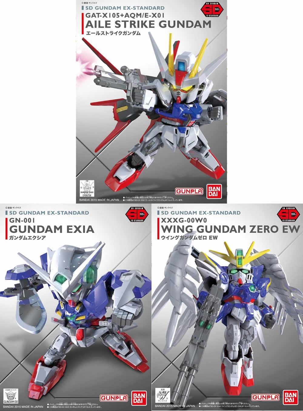 [3 in 1] SD Ex-Standard - Aile Strike, Wing Zero EW, Exia