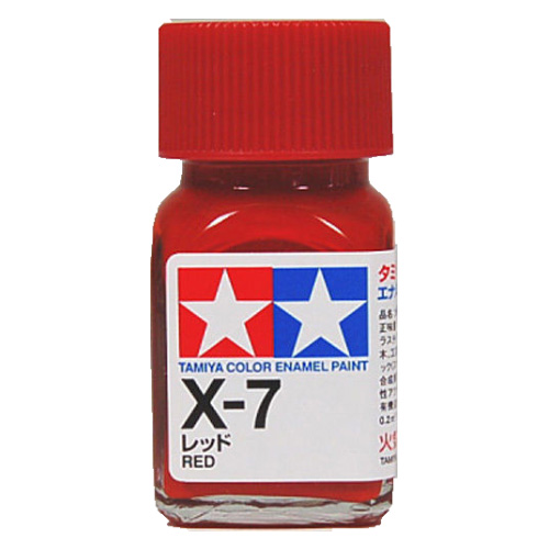 Tamiya Color Enamel Paint X-07 Red (10ML)