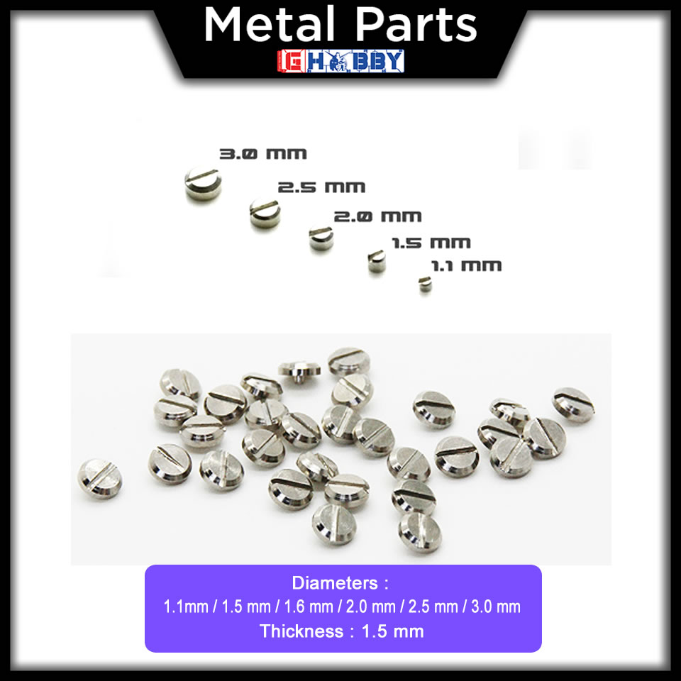 [Metal Part] 1.5mm Flat Head Screw * 30 units