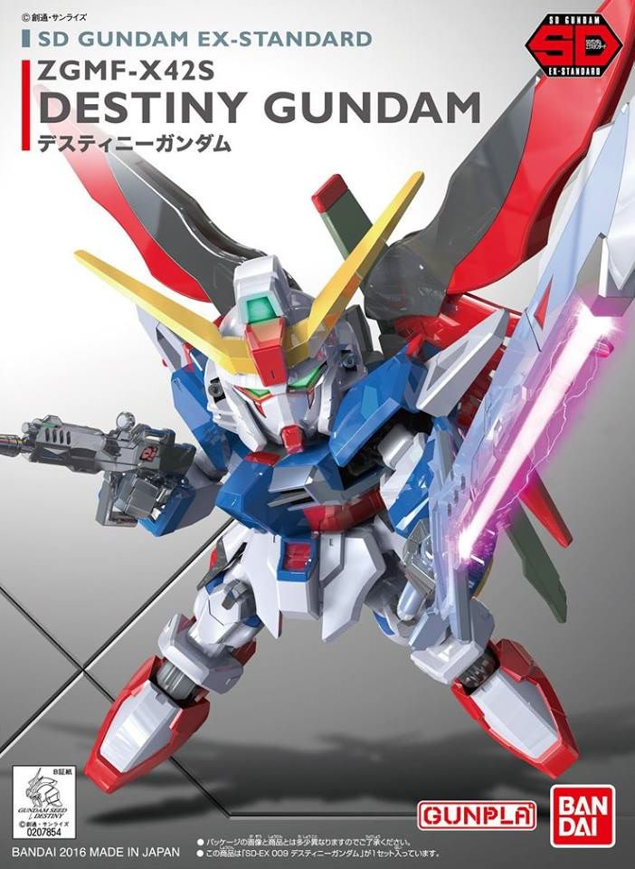 Sd Ex Standard Destiny Gundam Bandai Gundam Models Kits