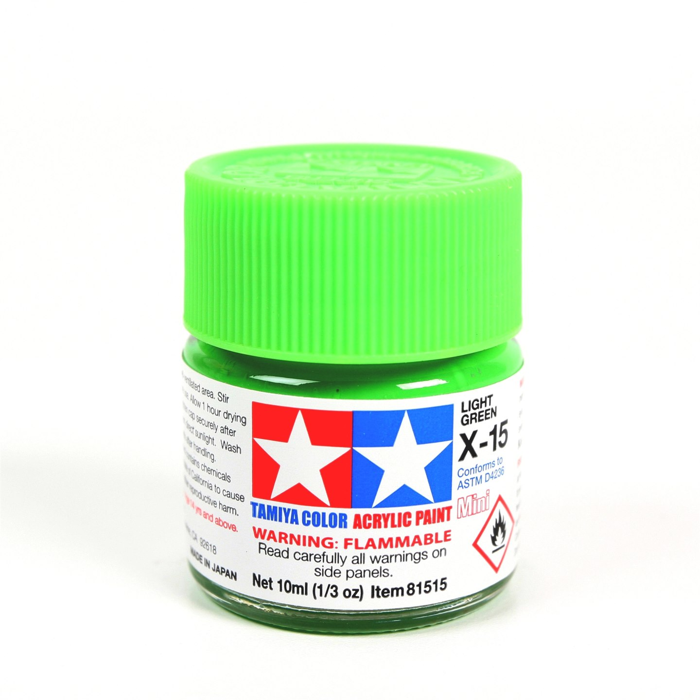 Tamiya Color Acrylic Paint Mini X-15 (Light Green) (10ml)