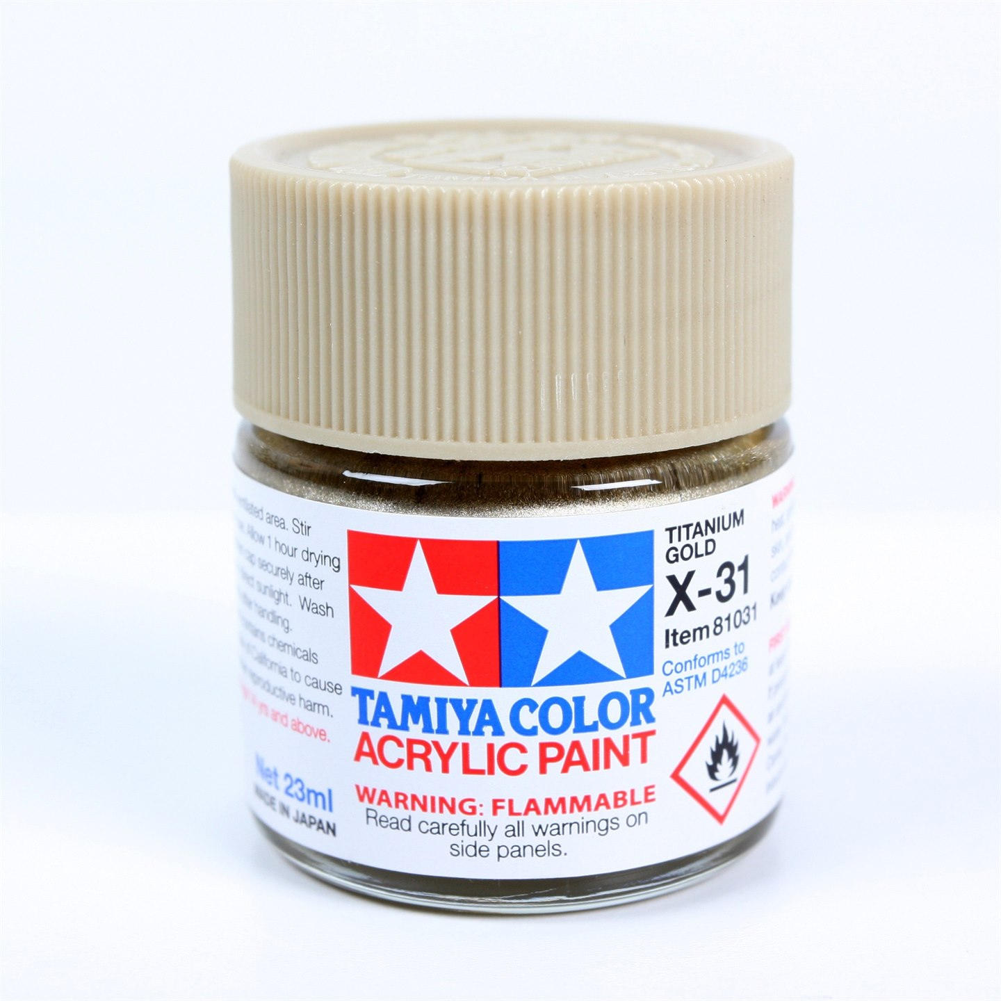 Tamiya Color Acrylic Paint X-31 (Titanium Gold) (23ml)