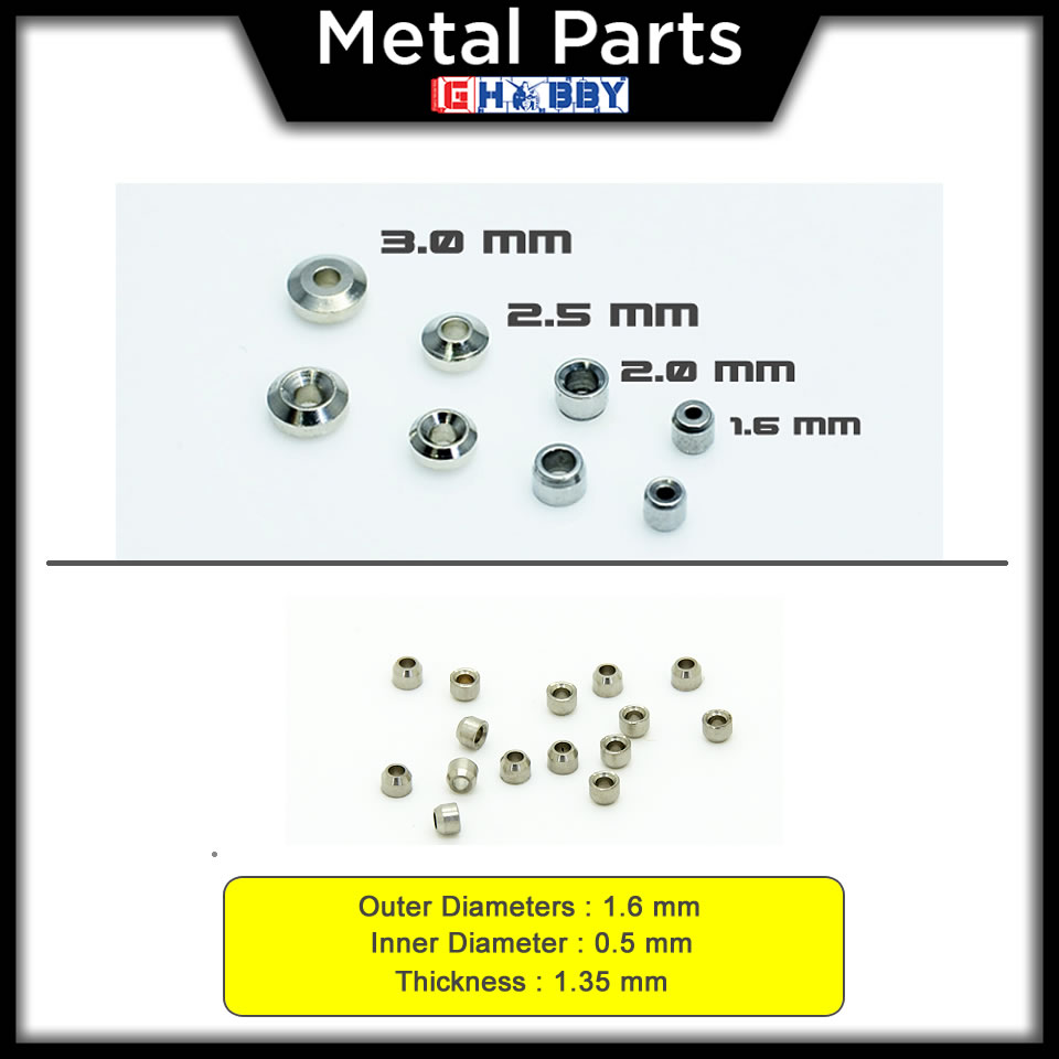 [Metal Part] Aviation Hole 1.6mm for HG / MG Gundam model kits - 15 units