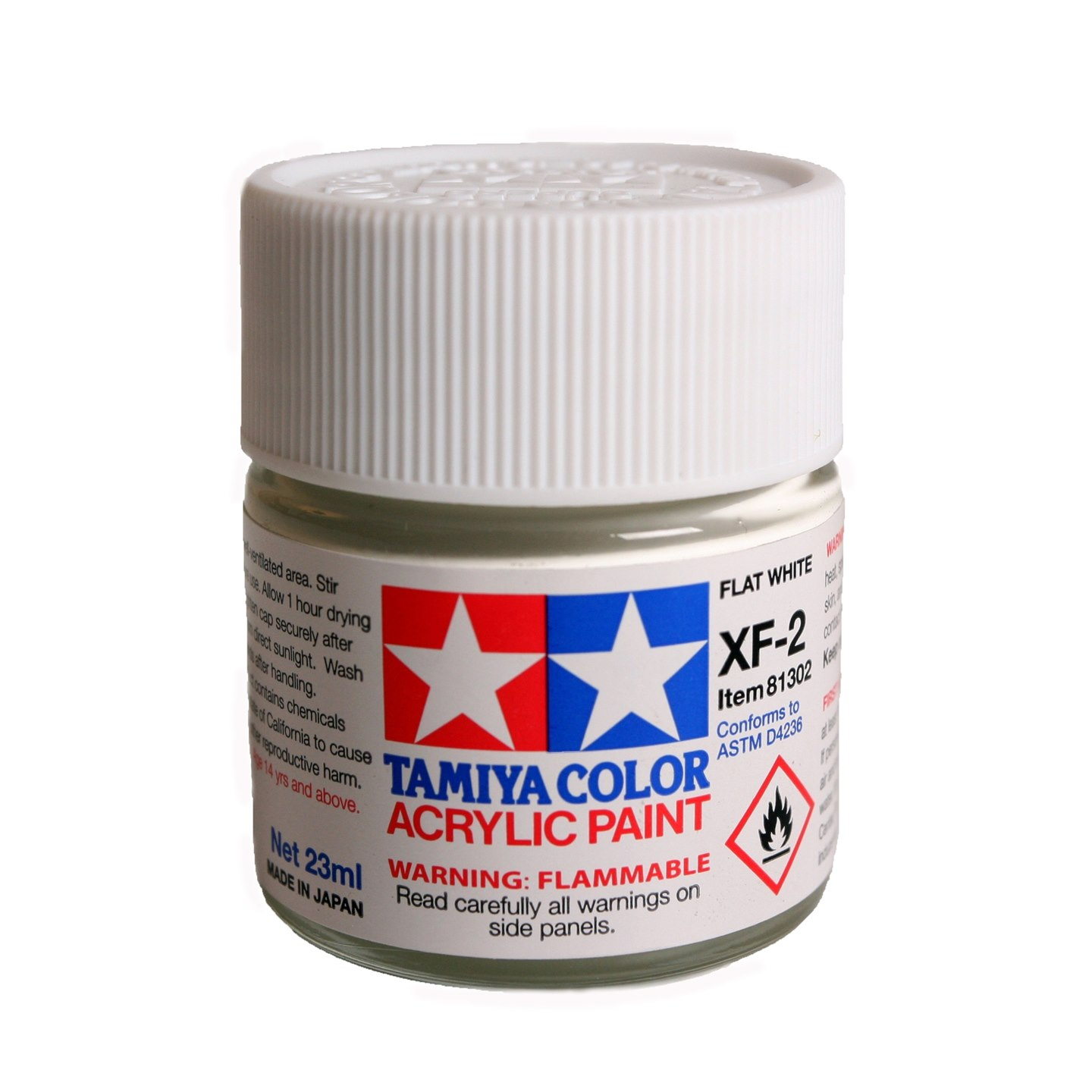 Tamiya Color Acrylic Paint XF-2 Flat White (23ML)