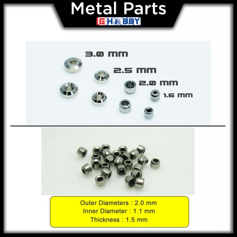 [Metal Part] Aviation Hole 2.0mm for HG / MG Gundam model kits - 15 units