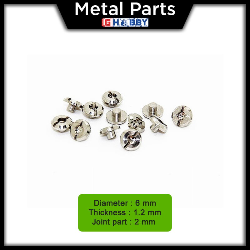 [Metal Part] 6.0mm Flat Head Screw * 12 units