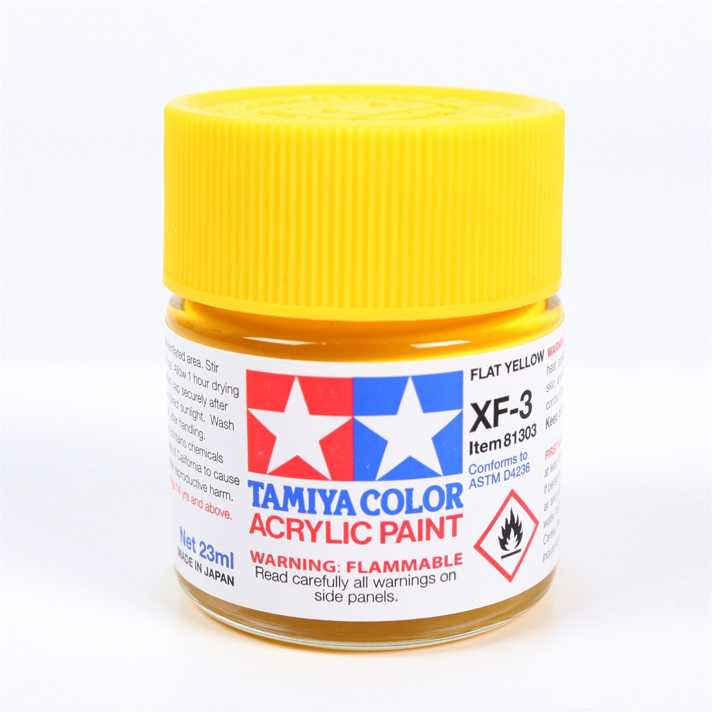Tamiya Color Acrylic Paint XF-3 Flat Yellow (23ML)