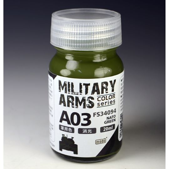 [MODO Color] A03 MILITARY ARMS COLOR SERIES NATO GREEN 20ML