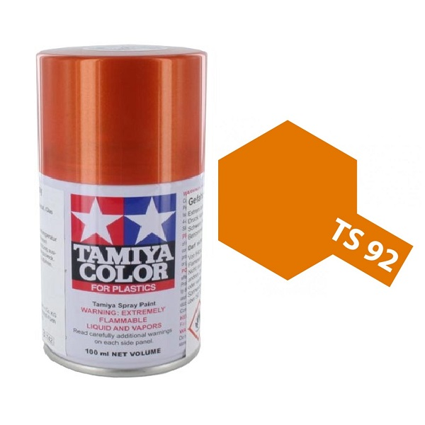 Tamiya Metallic Orange Paint Spray TS-92