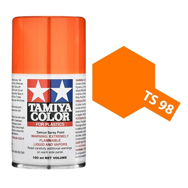 Tamiya Pure Orange Paint Spray TS-98