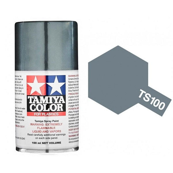 Tamiya Semi-Gloss Bright Gun Metal Paint Spray TS-100