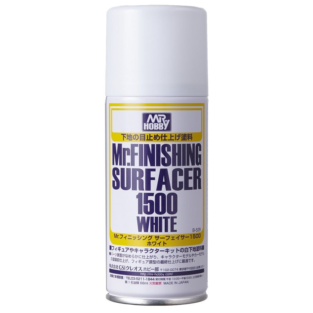 [B529] (MR HOBBY) MR. FINISHING SURFACER 1500 WHITE SPRAY (170ml)